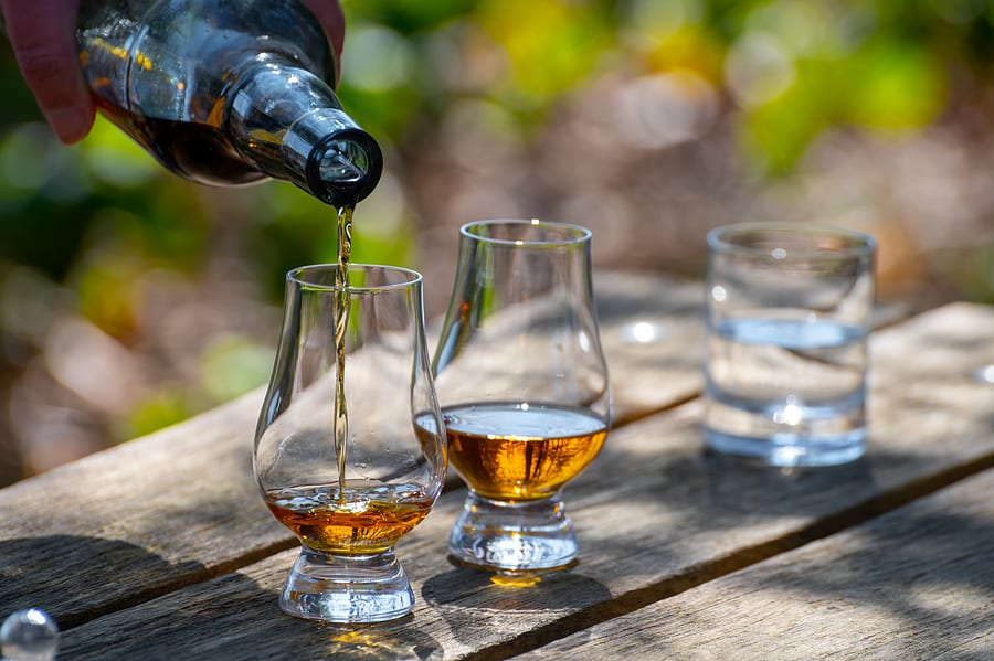 Scotch whiskey tasting